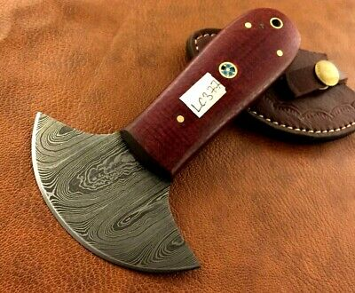 Handmade Damascus Steel Leather Skiver-Leather Cutter-Edge Skiving Tool-LC377
