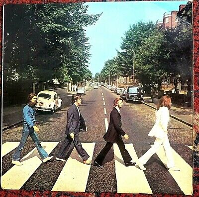 The Beatles Abbey Road Vinyl Lp 1969 Pressing Misaligned Apple Rear Cover