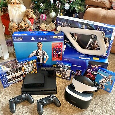 Sony PlayStation, PS4, Fifa Bundle, PSVR, Aim Controller and Games . . .
