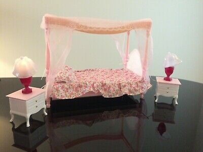 My Fancy Life Barbie Size Dollhouse Furniture Deluxe Bed/Living Room Play Set