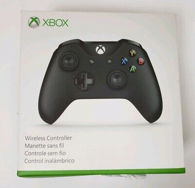 Microsoft Xbox One S Black Wireless Bluetooth Controller 6CL-00001 With Box
