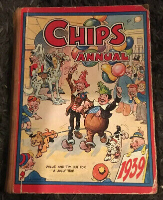 Chips Annual 1939, fleetway, Classic Childrens Book