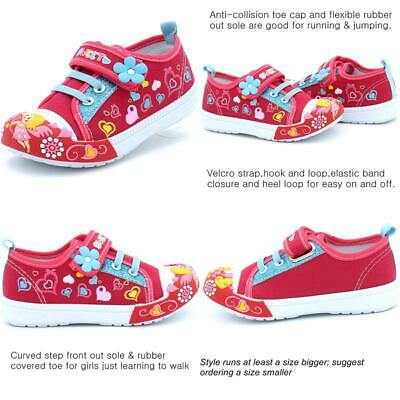Canvas Sneakers Shoes for Toddler Girls Infant Baby Strap Soft Comfortable Easy Walk