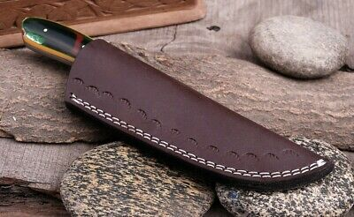 Double Stitch Custom Hand Made Pure Leather Sheath For Fixed Blade Knife - Q-007