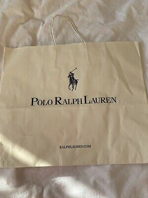 🎁POLO RALPH LAUREN Paper Gift Shopping Bag 42x35x15cm