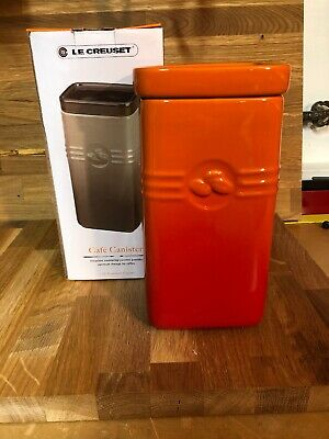 Brand New Le Creuset 2 Quart Stoneware  Canister Volcanic