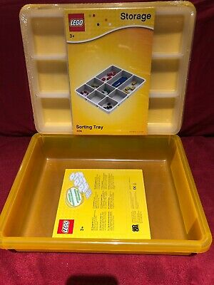 BRAND NEW LICENSED LEGO 4092 Yellow Storage Box S & Sorting Tray 4096 Lid Sealed