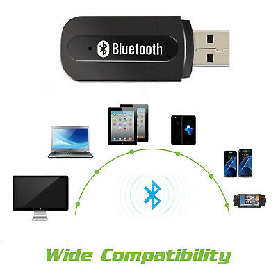3.5mm AUX USB Wireless Bluetooth Music Audio Stereo Receiver Adapter Dongle