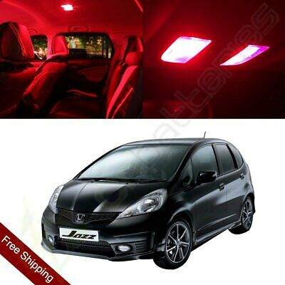 10pc Bright Ice Blue Interior LED Light Package Kit For 2009-2014 Honda Fit Jazz