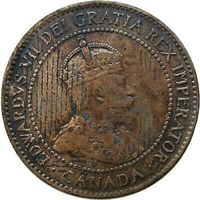 1902 Canada Large Cent Coin  World Currency 1026