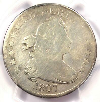 1807 Draped Bust Quarter 25C Coin - Certified PCGS VG Details - Rare Coin!