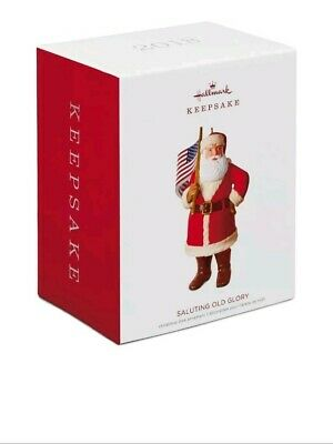 2018 Hallmark Keepsake Saluting Old Glory Santa Ornament