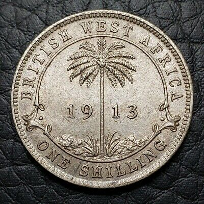 Silver 1913 British West Africa 1 Shilling | AU Condition