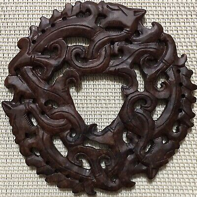 Chinese Natural Jade Pendant,Hand Carved,Triple Dragons, Beautiful Piece, China.