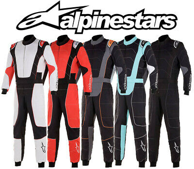 Alpinestars KMX-3 V2 Kart Suit Karting Racing, Cik Fia Level 2 - EU48 zu EU58