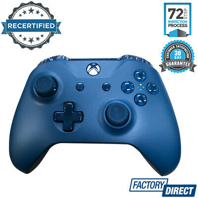 Genuine Microsoft Xbox Wireless Controller Blue Video Game Gaming Accessories
