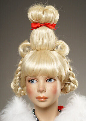 Childrens The Grinch Style Blonde Cindy Lou Who Wig