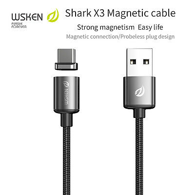 WSKEN X3 Metal Magnetic Charger Type C Charging Cable Lead Google Pixel 4/3/XL