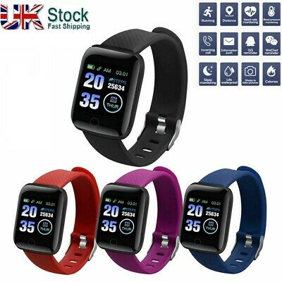 116Plus Smart Watch Bluetooth Heart Rate Blood Pressure Fitness Activity Tracker