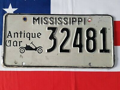 Plaque d'immatriculation Mississippi 32481 US USA license plate