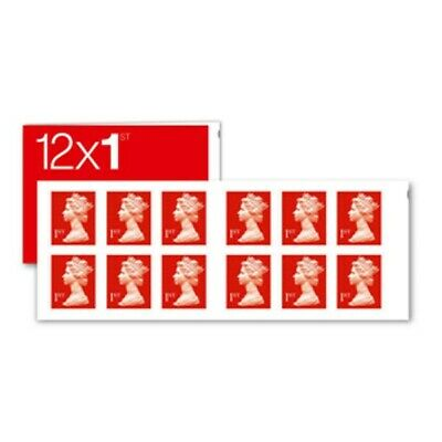 12 x First Class ROYAL MAIL 1st Letter Postage Stamps Self Adhesive Book