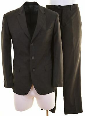 CALVIN KLEIN Mens 2 Piece Suit EU 50 Large W32 L31 Grey Wool Slim Fit  LT03