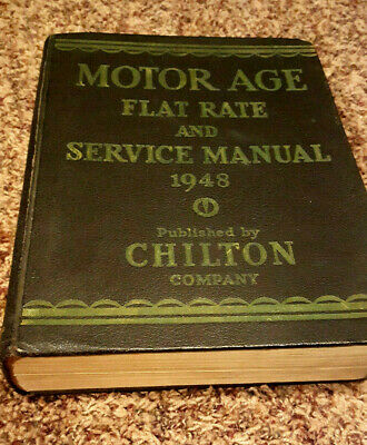1948 Motor Age Flat Rate and Service Manual, Chilton, Vintage, Book, Cars, HC