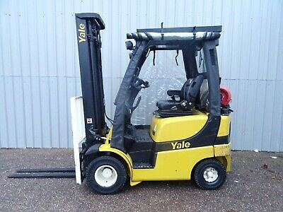 YALE GLP16VX. 3800mm LIFT. USED GAS FORKLIFT TRUCK. (#2669)