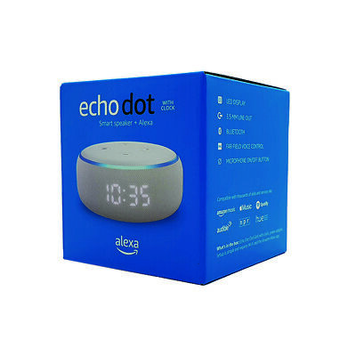 Amazon Echo Dot Smart Speaker with Clock and Alexa 3rd Generation - Sandstone