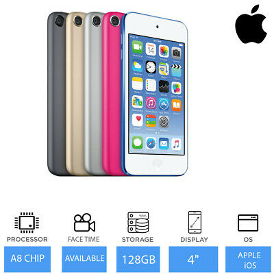 "Apple iPod Touch 32GB/ 64GB / 128GB 6th Generation 4"" Retina Display, FaceTime"