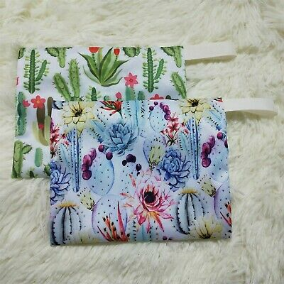 Small Wet Bag for Reusable Breast Pads, Wipes, Mama Cloth Pads Makeup Bag