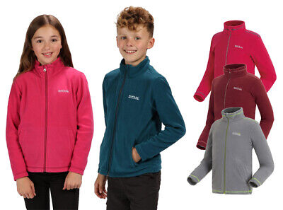 Regatta King II Kids Boys Girls Lightweight Full Zip Fleece Jacket