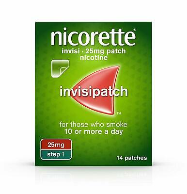 NICORETTE INVISIPATCH - 25mg - STEP 1 - 7 NICOTINE PATCHES - NEW !