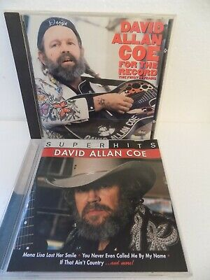 David Allan Coe For The Record- The First 10 Years, & Super Hits  CD