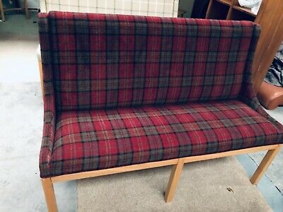 FULLY UPHOLSTERED TARTAN DINING BENCH - 1.5 wide x 1.05 high x .60 max deep