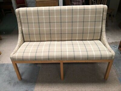FULLY UPHOLSTERED 3 SEATER DINING BENCH - 1.5 wide x 1.05 high x .6 max deep
