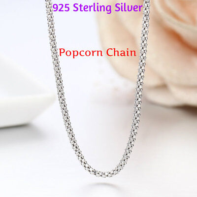 REAL Classic 925 Sterling Silver Chain Necklace SOLID SILVER 925 Jewelry Italy