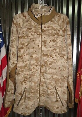 USMC Peckham Digital Desert MARPAT Full Zip Fleece Jacket Medium Long