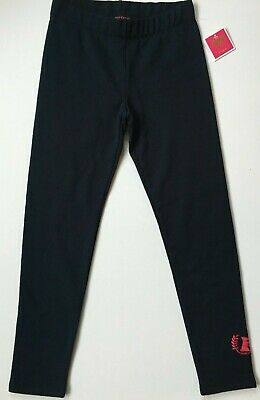 Girls Age 10 JUICY COUTURE Black Label Regal Navy Fleece Leggings  NWT