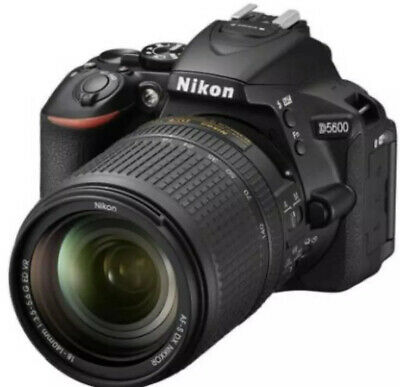 Nikon D5600 CMOS 24.2 MP with Nikkor18-140mm DX VR 128GB USA  LOW COUNT 500