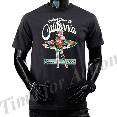 California Bear T Shirt Surfing Republic Mens Sizes Small to 6XL and Tall