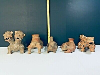 Lot Of Five Precolumbian Big Pieces