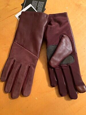 $89 Womens Echo Leather  Maroon Gloves Medium  Touch Thinsulate #12