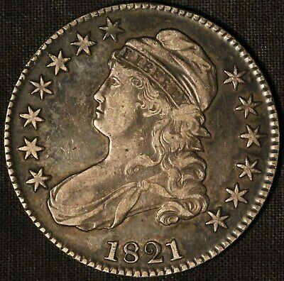 1821 US 50c Capped Bust Half Dollar - Free Shipping USA
