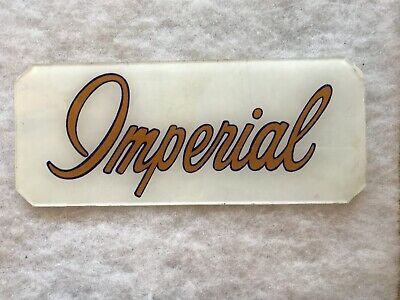 Atlantic Imperial Vintage 1940's Glass Gas Pump Insert Sign