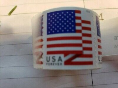 *100 FOREVER STAMPS* Roll of 100 USPS Forever US Flag Stamp Coil
