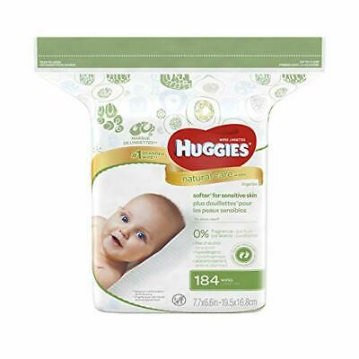 Huggies Natural Care Baby Wipes, Refill Pack (184 Sheets Total)