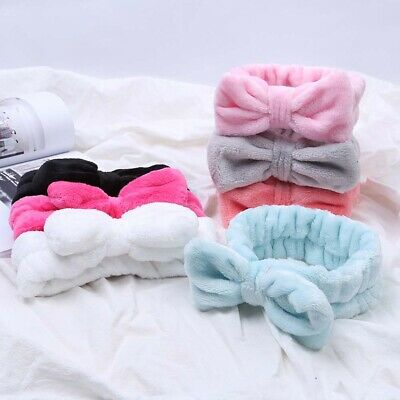 Girls Bow Women Makeup Wash Face Headband Hair Accessories Headwrap Hairband
