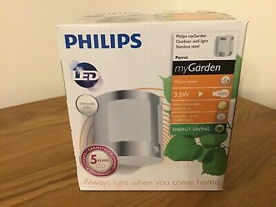 Phillips LED Mains Powered PIR Motion Sensor Light Outdoor Security Wall Light