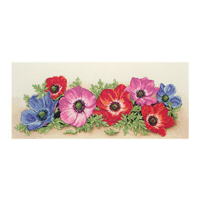 ANCHOR | Counted Cross Stitch Kit: Spray of Anemones - Wall Hanging | PCE733